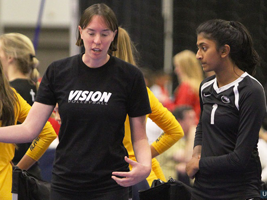 Lichtman coaches a younger player